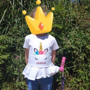 Camiseta unicornio personalizada